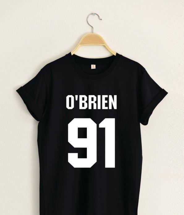 Dylan O'Brien 91 T shirt Adult Unisex Size S 3XL