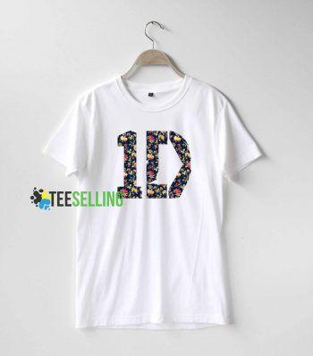 1D One Direction Flowers T Shirt Adult Unisex