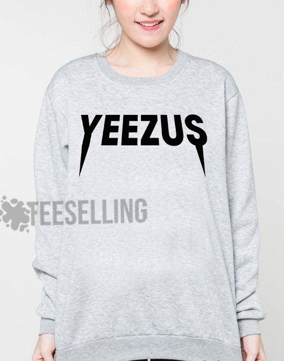 Yeezus logo unisex adult sweatshirts men and women