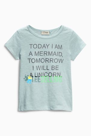 Today I Am A Mermaid Tomorrow I Will Be A Unicorn T Shirt Adult Unisex