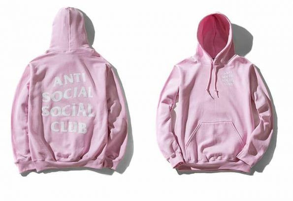 Anti Social Social Club Pink Hoodie Adult Unisex Size S 3XL